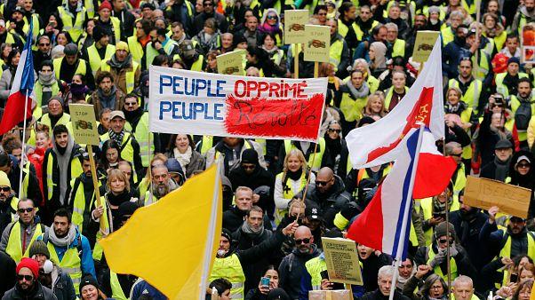 Protesta de los chalecos amarillos en Marsella