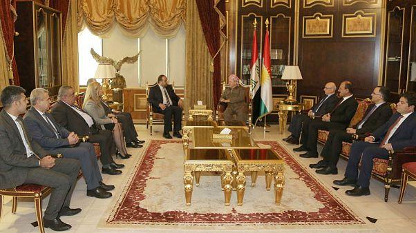 بارزانی با هیئتی از مخالفان سوریه دیدار کرد
