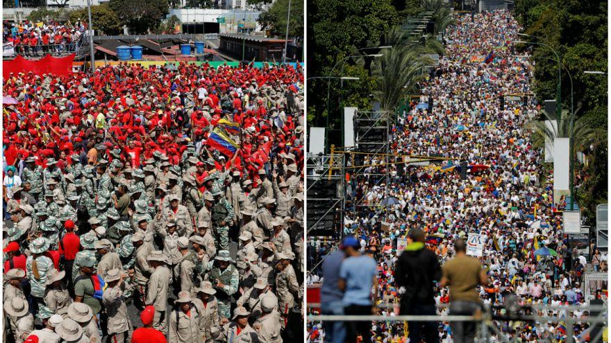 ونزوئلا؛ هزاران تن از هواداران گوایدو بار دیگر به خیابان آمدند