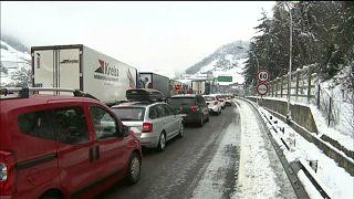 Schneechaos am Brenner