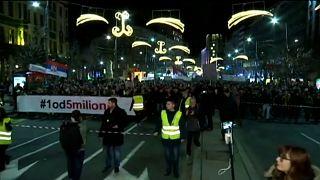 Ismét Vucic ellen tüntettek Szerbiában