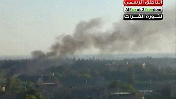 قصف بمدينة دير الزور في سوريا
