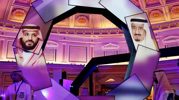 صورتا الملك سلمان بن عبدالعزيز وولي العهد محمد بن سلمان