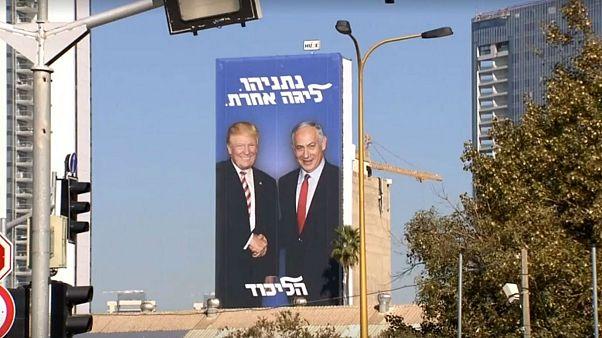 تصویر ترامپ خندان در تبلیغ انتخاباتی نتانیاهو