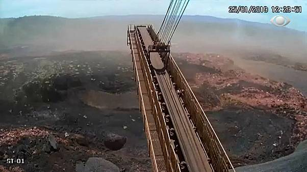 Video: Brezilya'da madeni basan çamur selinin görüntüleri ortaya çıktı