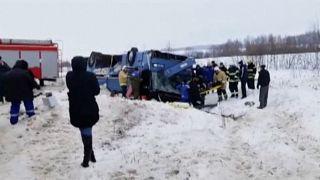 Halálos buszbaleset Oroszországban