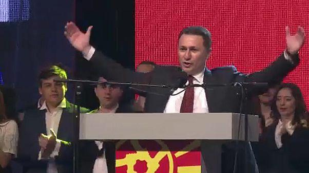 Nikola Gruevszki egy nagygyűlésen