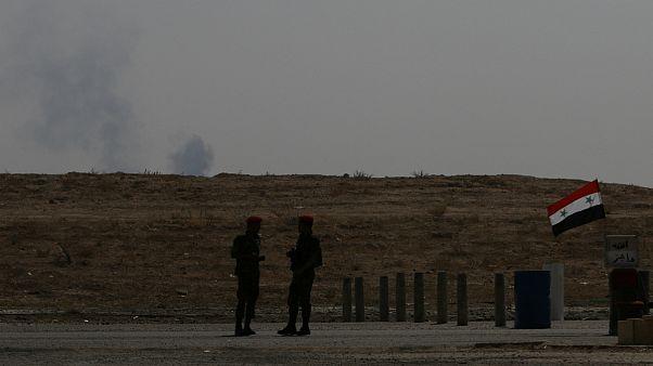 حمله هوایی ائتلاف تحت رهبری آمریکا به مواضع ارتش سوریه