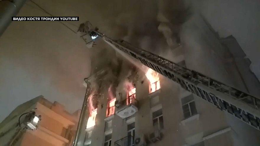 Крупный пожар в центре Москвы: есть погибшие и пострадавшие