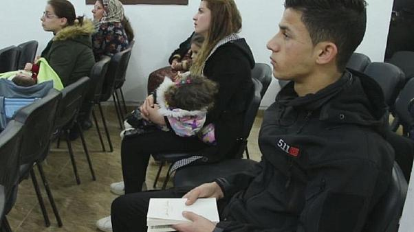 فهد جاسم داخل كنيسة الإخوة في كوباني