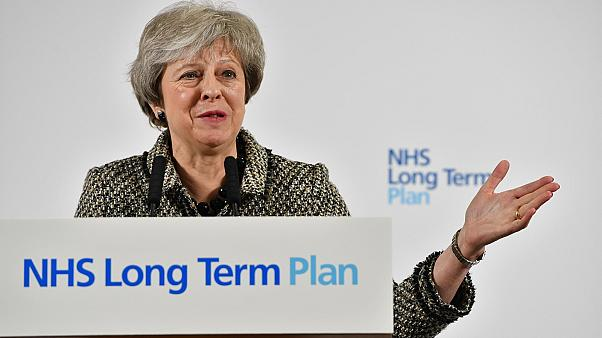 Britain's PM May launches government's NHS Long Term Plan in Liverpool