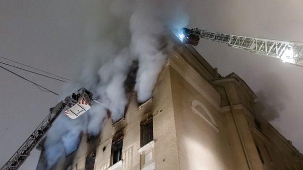 Incêndio mortífero no coração de Moscovo