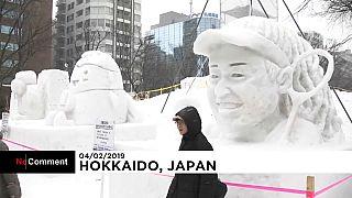 Japonya'daki Sapporo Kar Festivali'nden muhteşem görüntüler