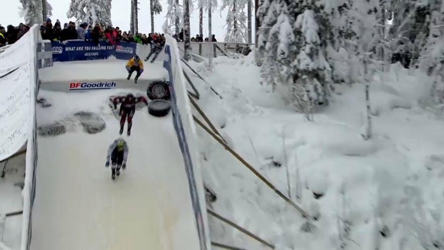 Kyle Croxhall au top de l'icecross
