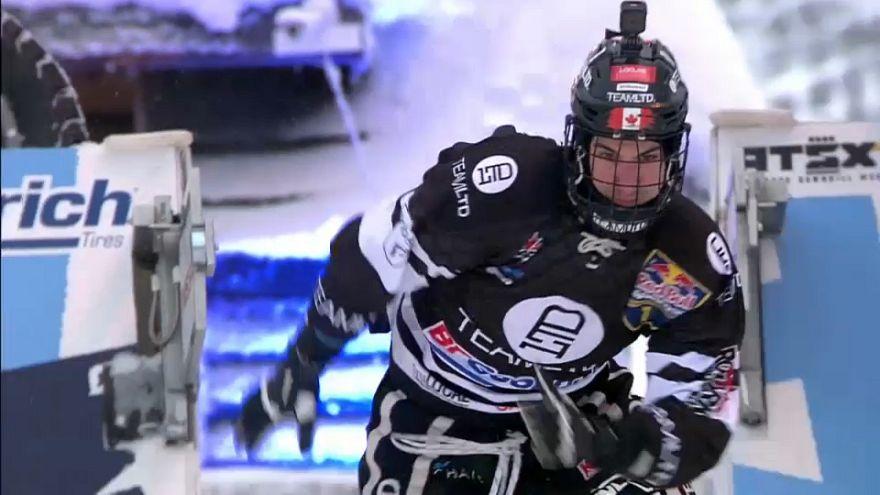 Канадец Кайл Кроксолл одержал победу на Crashed Ice в Финляндии