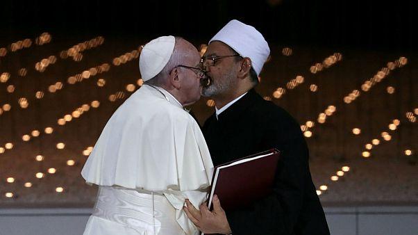 پاپ فرانسوا و احمد الطیب در ابوظبی