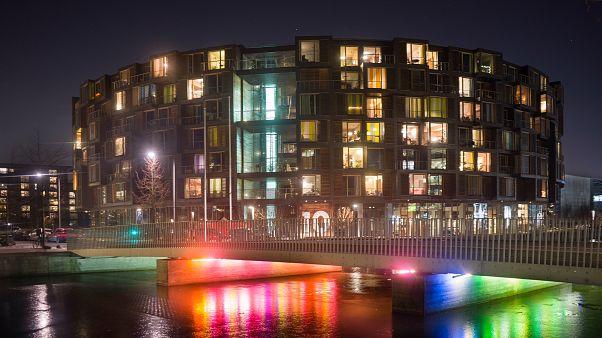 Video | Kopenhag Işık Festivali'nde bulutlar bile rengarenk