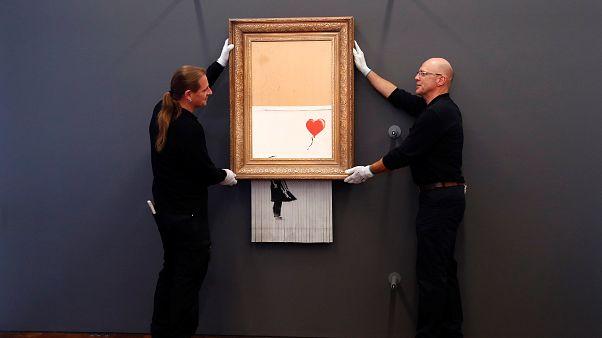 """Museu alemão expõe obra de Banksy """"destruída"""""""