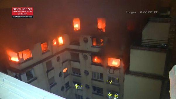 Una mujer detenida por el incendio en París que ha causado diez muertos