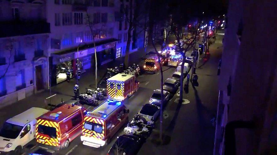 Крупный пожар в фешенебельном районе Парижа, есть жертвы