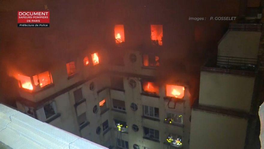 Feuer in Paris: Mindestens 10 Tote, Verdächtige festgenommen