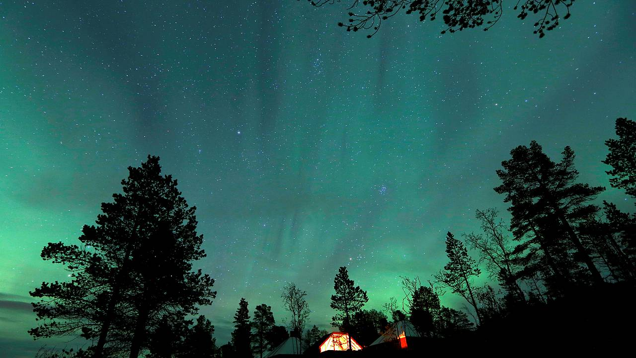 Northern Lights near the village of Mestervik, Norway