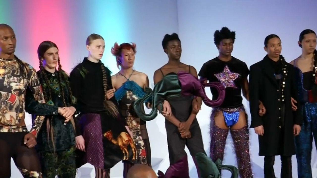Estilo andrógino na Semana da Moda Masculina de Nova Iorque