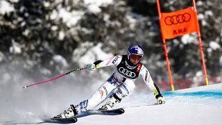 Schreck in Åre: Lindsey Vonn (34) beim Super G gestürzt