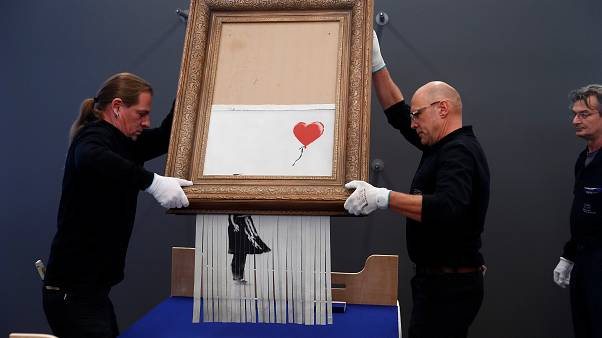 La toile autodétruite de Banksy s'expose en Allemagne