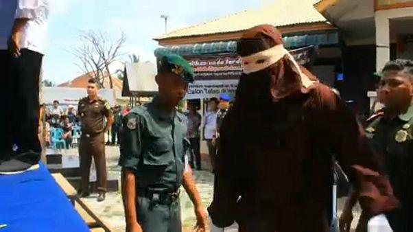 شلاق زدن در اندونزی