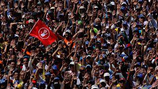مجموعة من المتظاهرين في فنزويلا