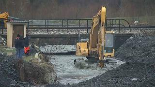 فيضانات في وسط البوسنة