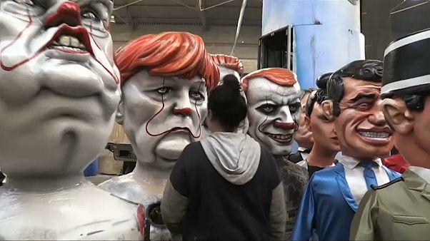 Le défilé des caricatures au Carnaval de Nice