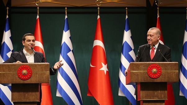 Çipras'ı ağırlayan Erdoğan: Sorunların barışçıl şekilde çözülebileceğine inanıyorum