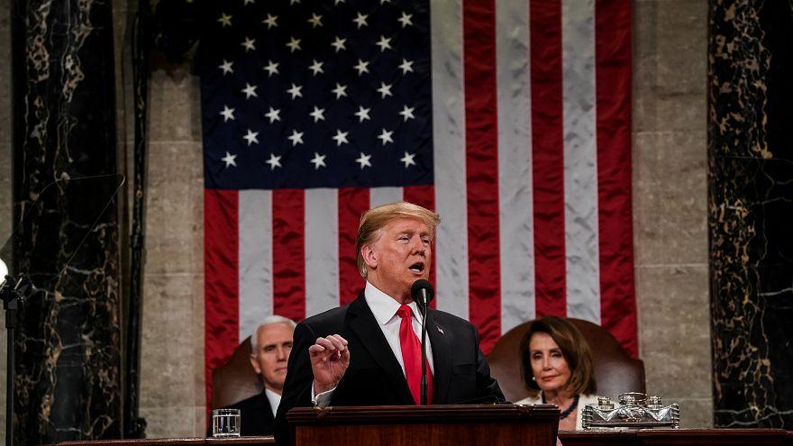 ترامب خلال خطاب حالة الاتحاد