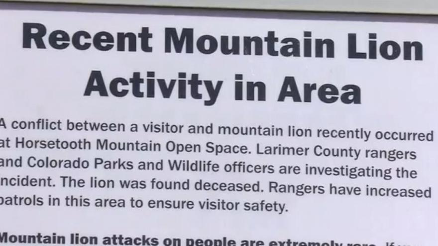 A sign warns visitors about the attack