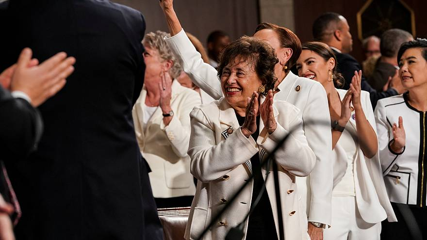 Watch: Female lawmakers cheer record number of women in US Congress