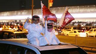 احتفالات الجماهير بفوز قطر بكأس آسيا لكرة القدم