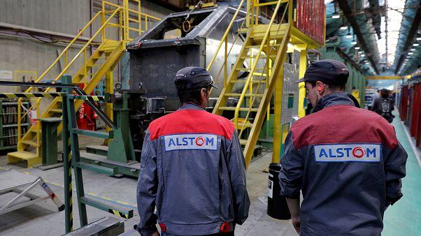 Photo prétexte fusion Alstom-Siemens refusée par la Commission européenne.