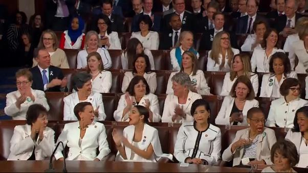 Female Dems cheer as Trump talks women employment