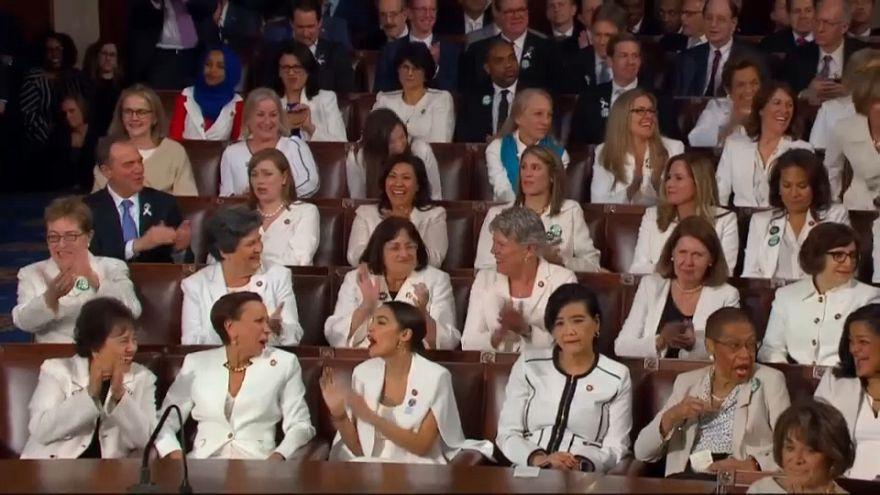 حضور زنان دموکرات با لباس سفید در سخنرانی سالانه ترامپ