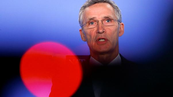 NATO Secretary General Stoltenberg at a news conference, February 2019