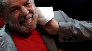 Photo prétexte nouvelle peine de prison ex-président brésilien Lula.