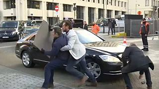 This protester is not only obstacle to Brexit talks after Tusk says 'no breakthrough'
