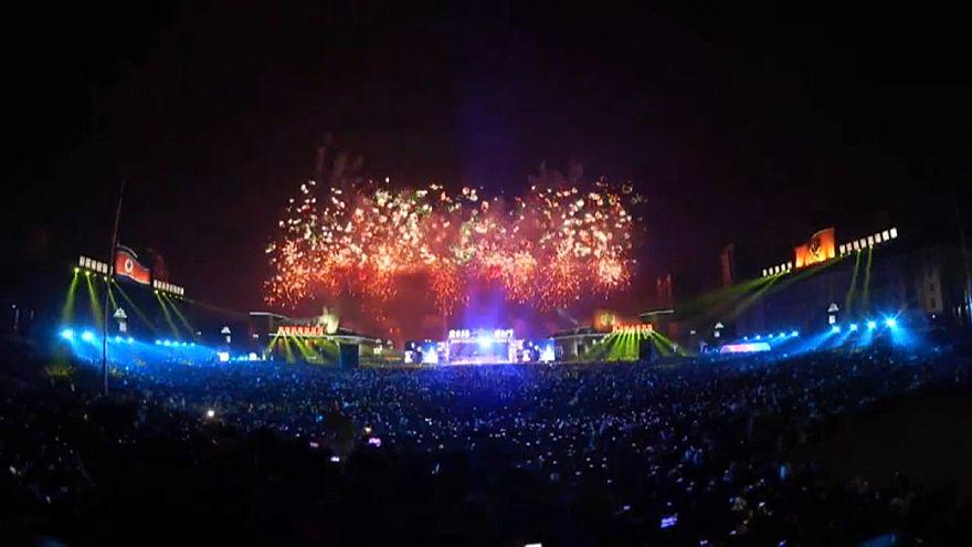 Norte-coreanos celebram Ano Novo