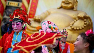 Les Chinois célèbrent le Nouvel An sous le signe du cochon