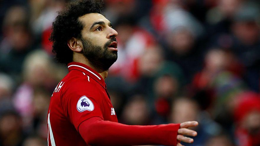 محمد صلاح في مباراة ضدّ كريستال بالاس مع ناديه ليفربول