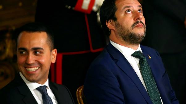 Minister of Labor Luigi Di Maio and Interior Minister Matteo Salvini