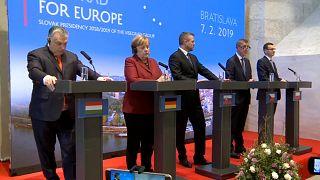 Angela Merkel incontra il Gruppo di Visegrad