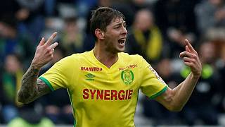 Emiliano Sala during his time with FC Nantes in France